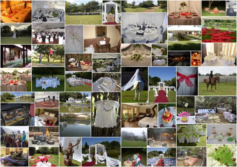 Collage of Activities. Available Garden weddings, Corporate functions, Venue for travellers fun
