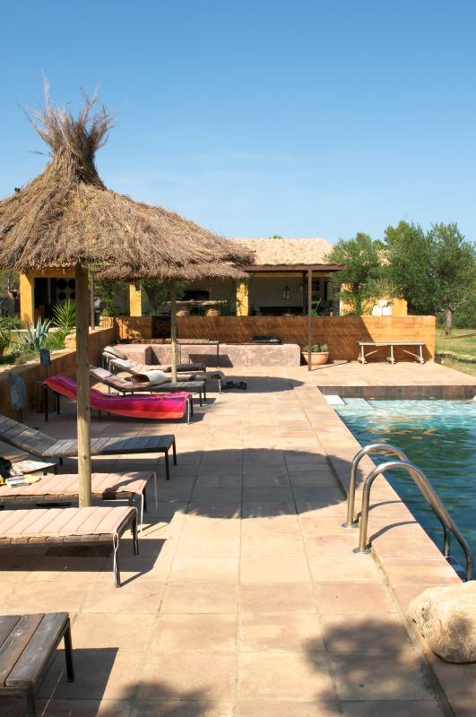 pool, pavilion