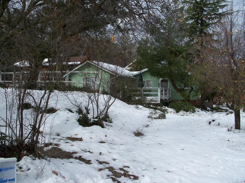 Winter snow at Cathleen's Country Cottage