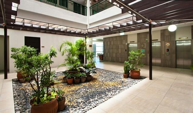 The atrium facing the elevators that makes you feel at home and welcomed. Superb breeze and relaxing.