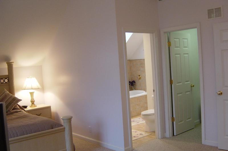 Area view of Master bath and closet