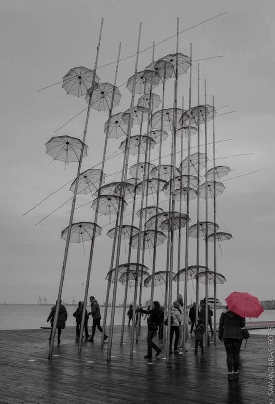 Modern art on the pier