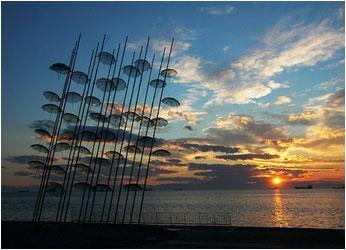 Modern art on the sea front