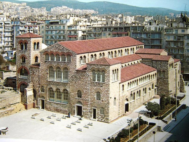 St Demetrius Church - the biggest and oldest orthodox church in Thessaloniki