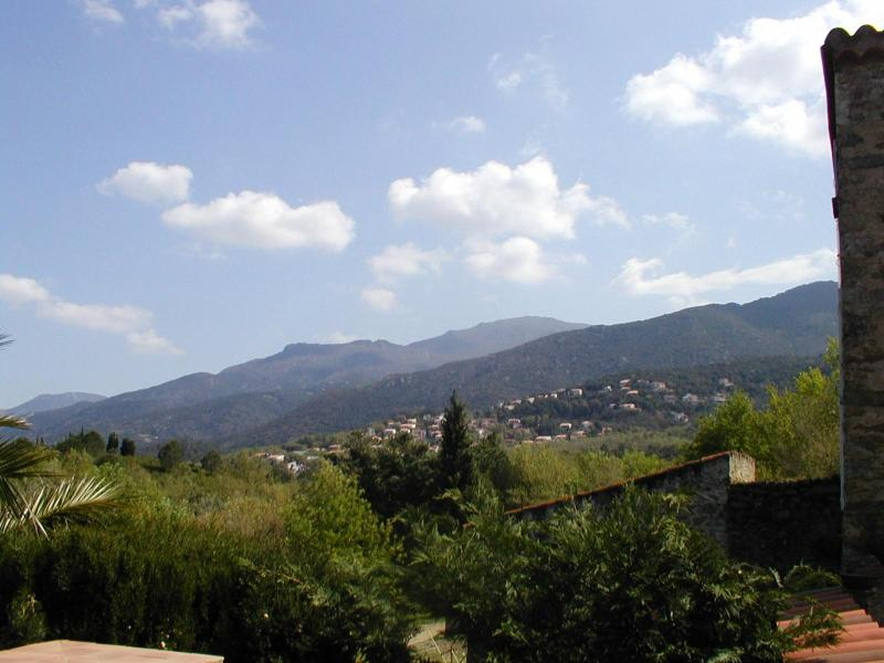 Mountain views to the south - foothills of the Pyrenees and Mediterranean setting.