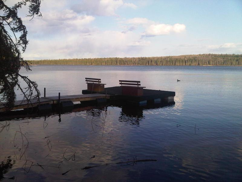 Private Dock on McPhee Lake (Note:  cottage is not waterfront)
