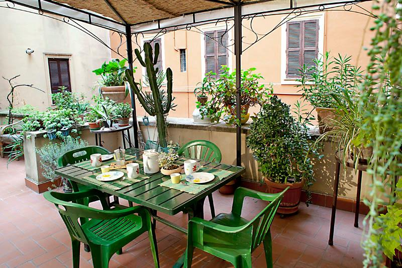 You can comfortably have breakfast on the terrace, where you can have all your meals.