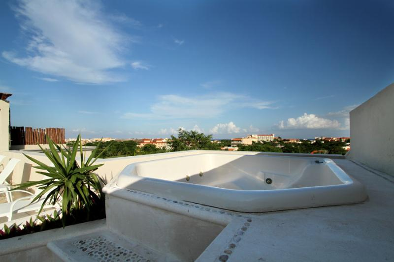 Rooftop Soaker Tub with View