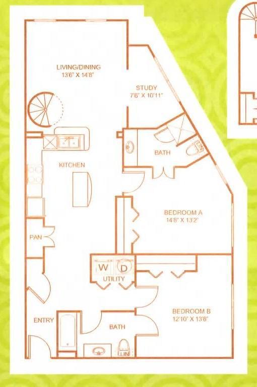 Appartement plattegrond - 1200 m²