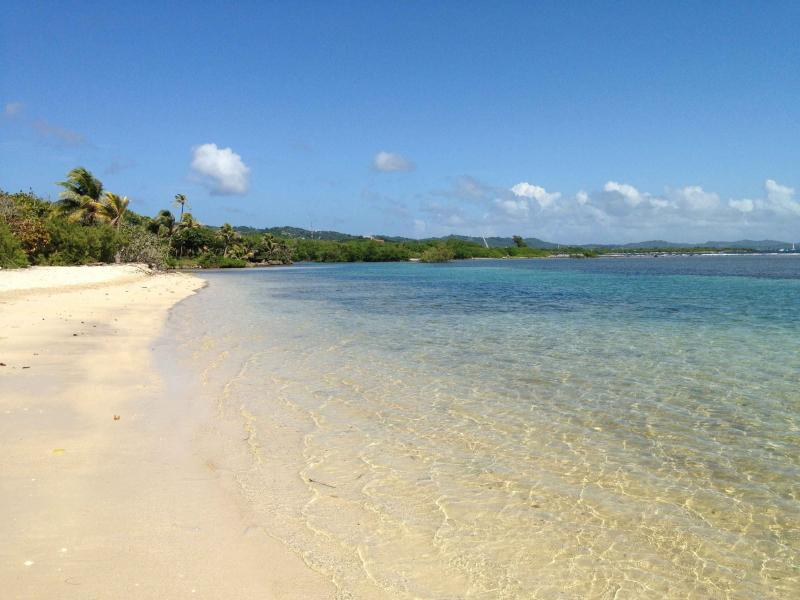 Beautiful private beach with calm waters