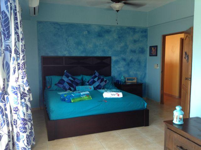 Sea room... fall asleep to the sea breeze and waves in the master bedroom with king size bed