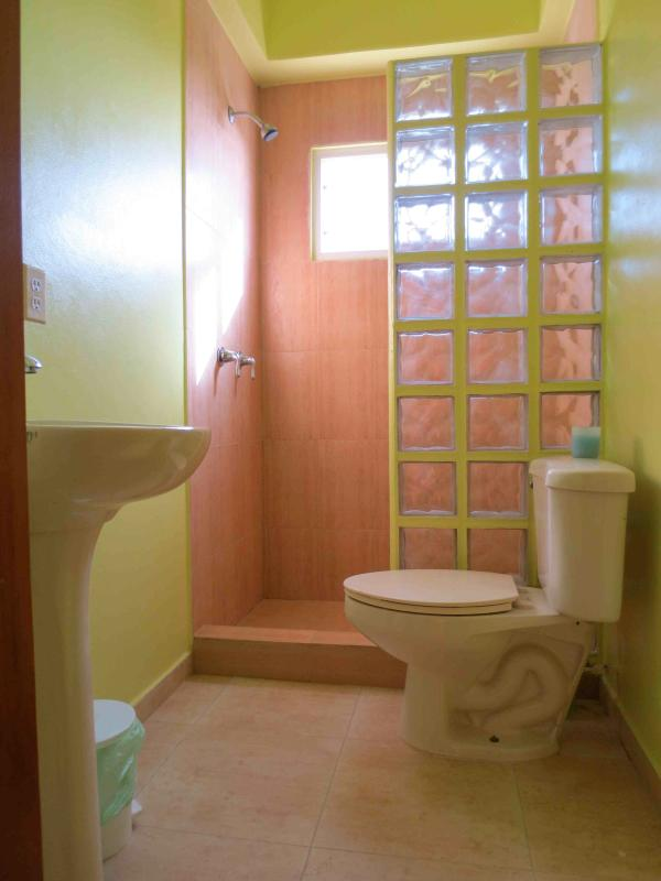 2 sun-filled bathrooms with large showers