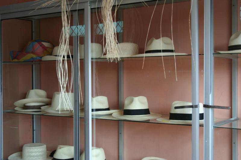 Sombreros de Panamá tienda en Montecristi