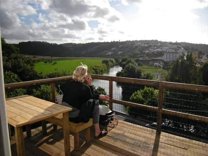 terrace with great views over the river