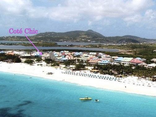 Côté Chic est 1ère ligne sur la plage!