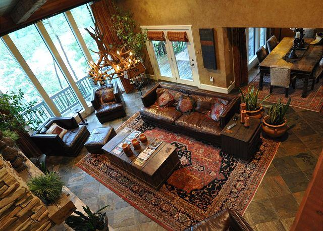 Great Room from Upstairs Balcony