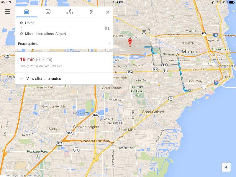 Aéroport International de Miami de moins de 20 min en voiture - à fort trafic.