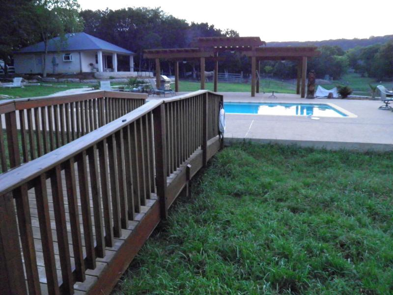Pool, pergola, BBQ grill available for guest use
