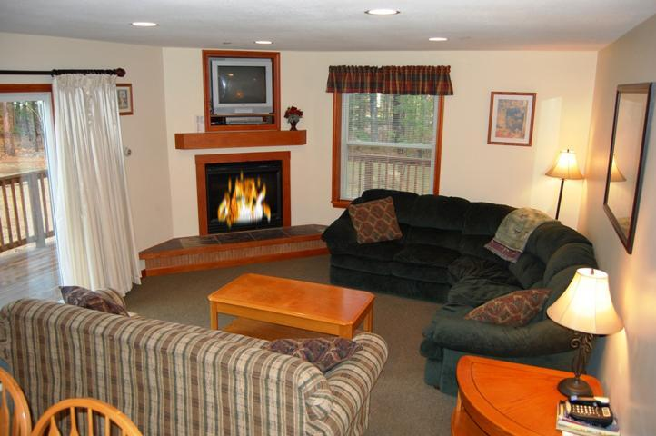 Main Level Sitting Room with Gas Log Fireplace