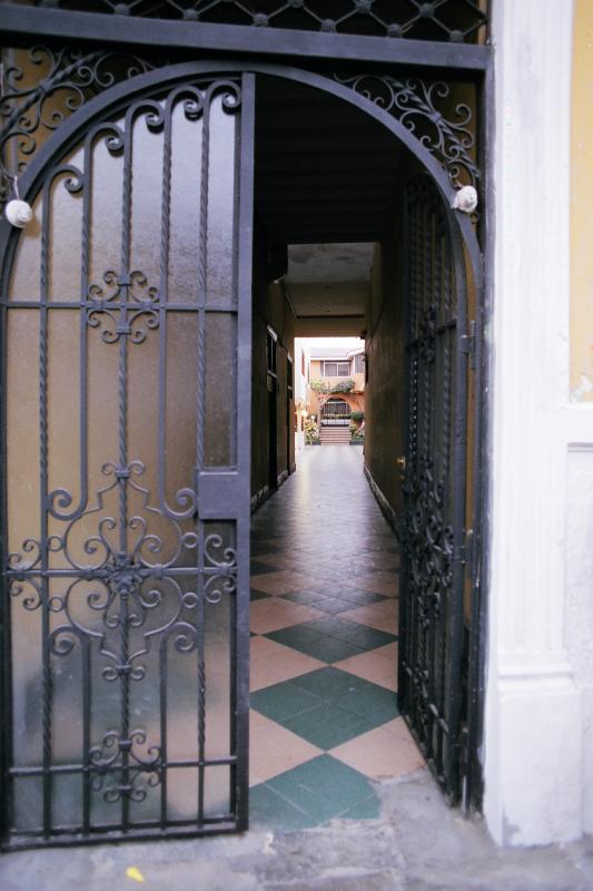 secure street entrance