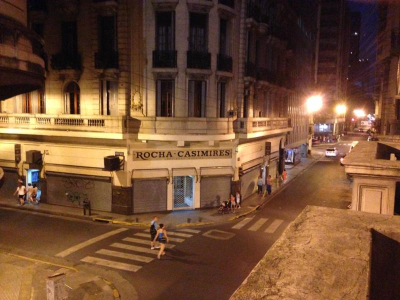 night view - a block from famous Avenida de Mayo