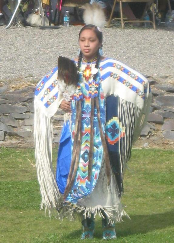 Native American Dancer during Chockcherry Days