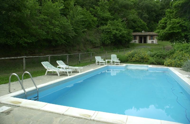 LE GROTTE's great pool - large (12 x 6 mts), excellently kept.