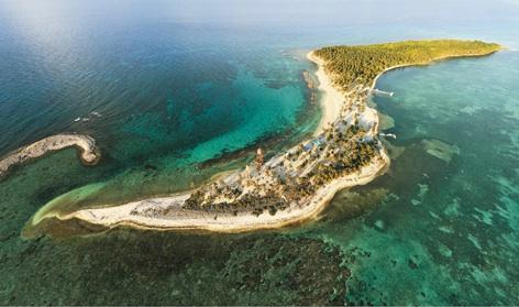 Neighboring island Half Moon Caye - National Monument and bird sanctuary - 3 mins by boat