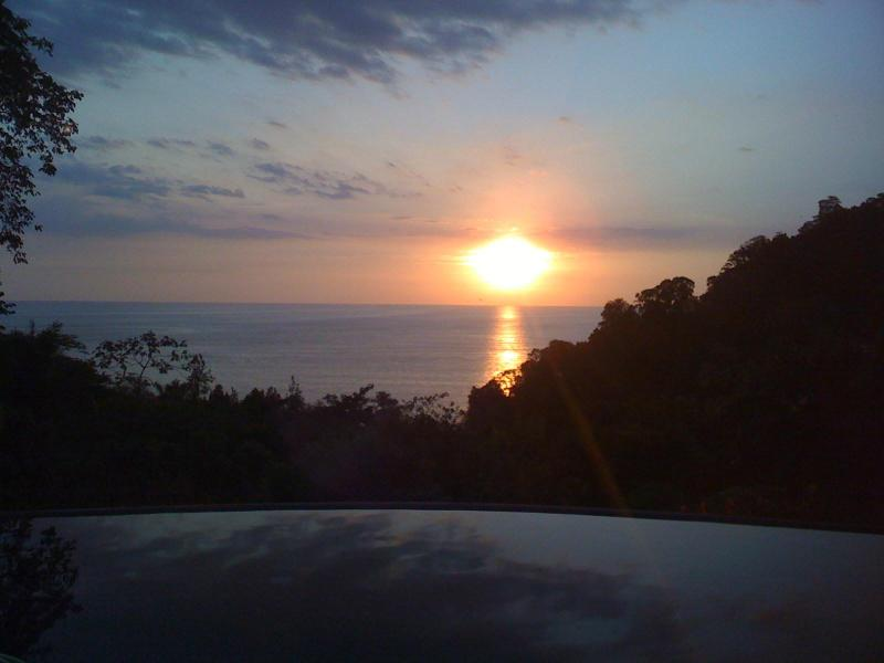 Incredible sunsets view from house overlooking the infinity pool