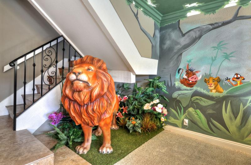 You will be greeted by life size lion Mufasa, Timon, Pumba to start your trip