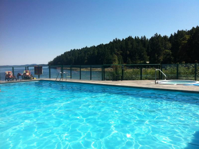 Lounging by the enormous heated pool and hot tub - fun for all ages