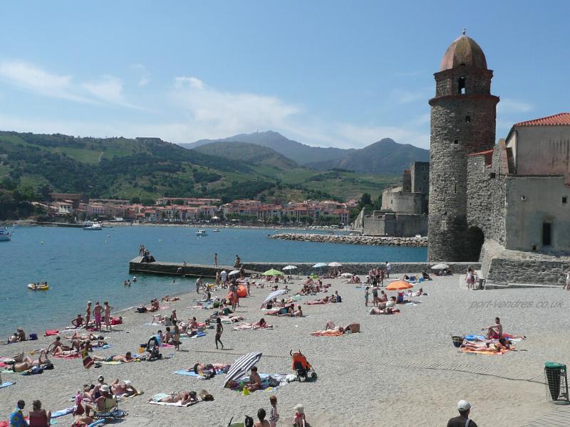 The beautiful resort of Collioure - just 25 mins walk away