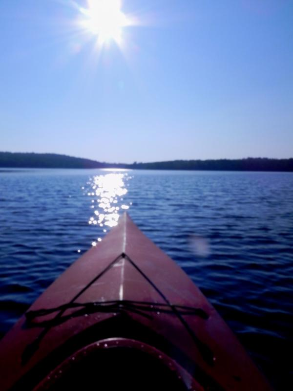 In kayak on Center Pond