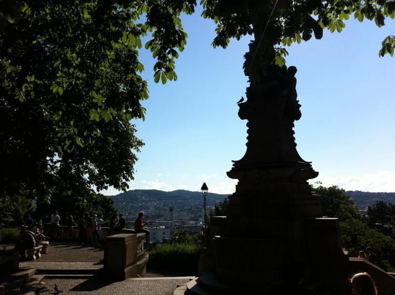 Eugensplatz view to the city