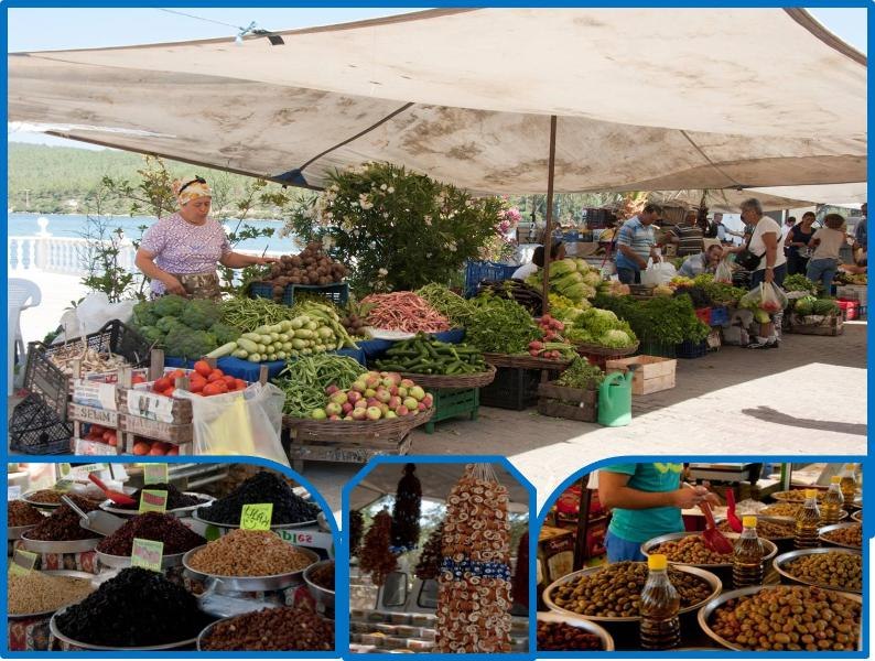 Local markets in the area offering super fresh fruit and vegetables, straight from the fields