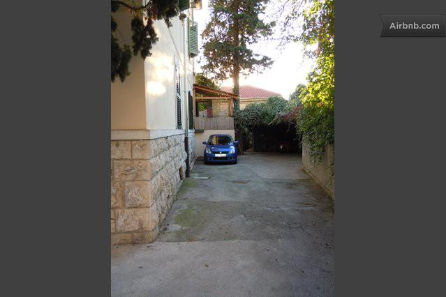 Private parking place in the courtyard of the house where the apartment is located