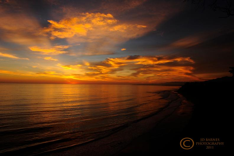 Hendry's Beach Sunset Santa Barbara