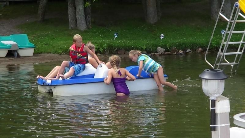 fun with a paddle boat