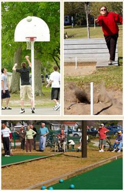 Basketball, Bocce, Horseshoe