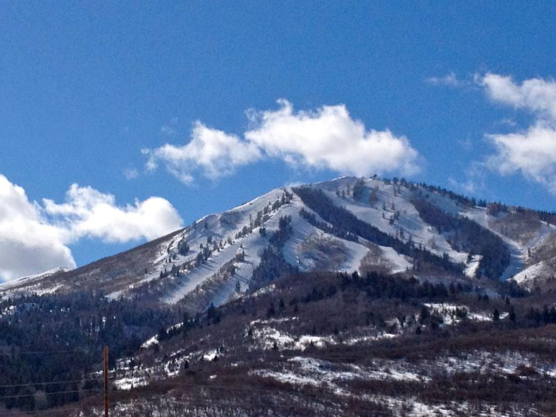 Glorious View to the Mayflower runs at Deer Valley - right from your private balcony