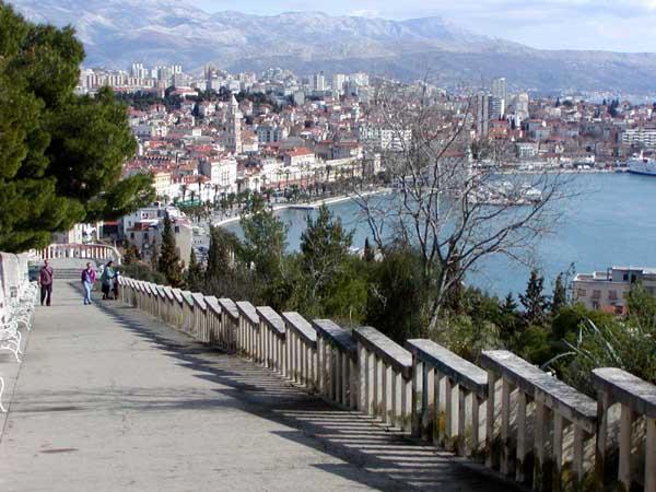 Blick vom Marjan-Hügel