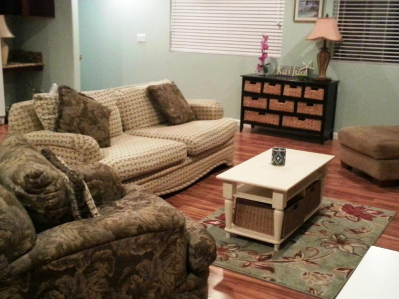 Living Room with over sized furniture