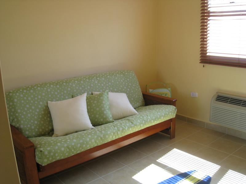 Room 3 with very comfortable  full size futon bed (sleeps2) & a double bunk-bed (sleeps2)