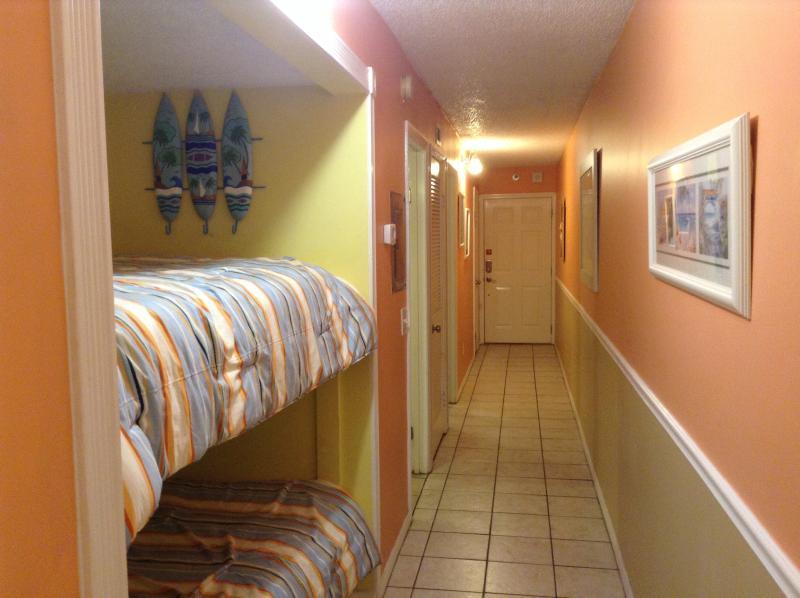 View Bunkbeds to Hallway door