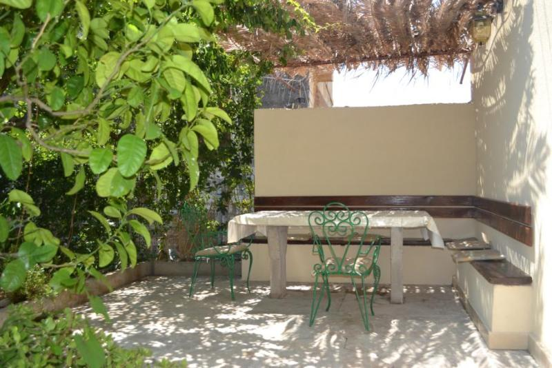 Private yard of the apartment