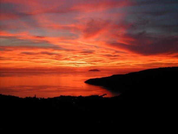 Beautiful sunset at Komiža
