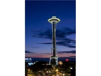 Space Needle is about a 10 min. drive.