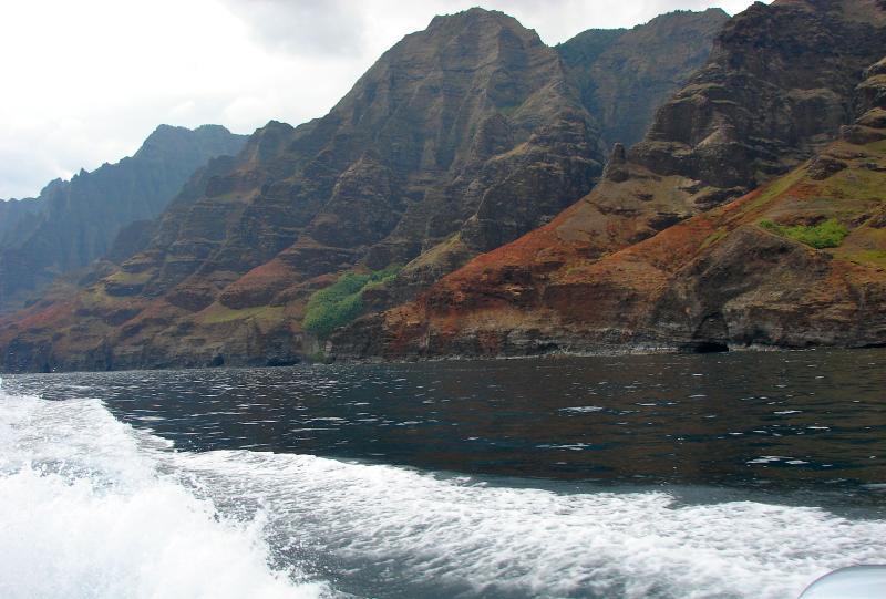 Na Pali Coast from a catamaran