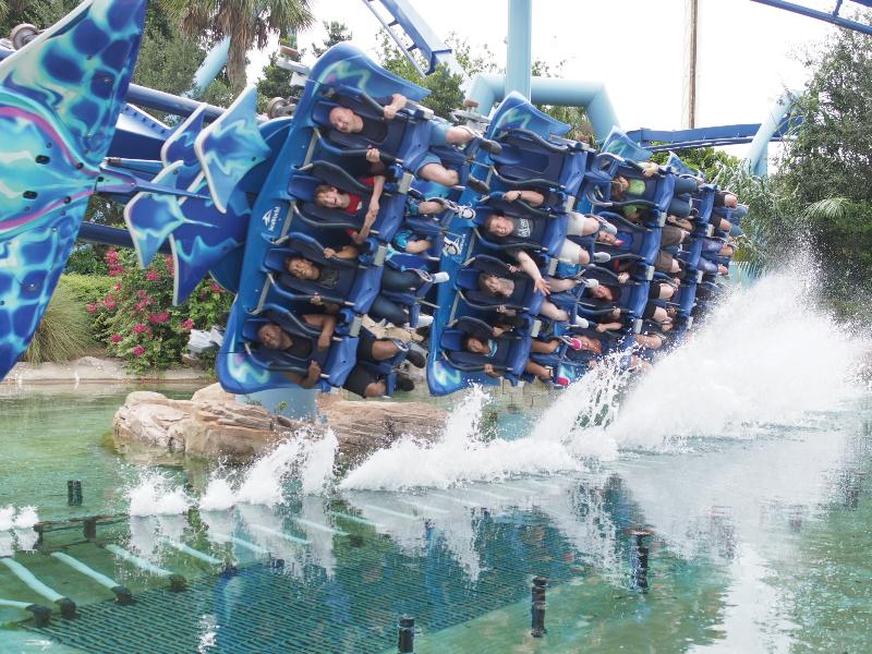 Rollercoaster at SeaWorld