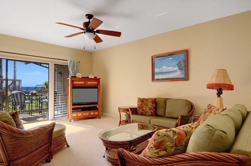 Nuevos muebles, plano de la pantalla tv, Wifi, un sofá cama queen, ventiladores de techo